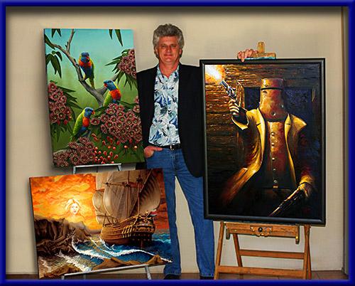 Jantke Art Studio Peter Loletta Brisbane Australia paintings, Australian painter Queensland artist
