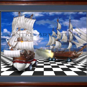 battleships-main-galleons-broadside-chess-board-hotrod-surreal-digital-illustration-peter-jantke-art-studio