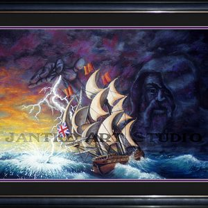 geddon-main-fantasy-art-sea-legend-god-galleon-pastel-painting-peter-jantke-art-studio