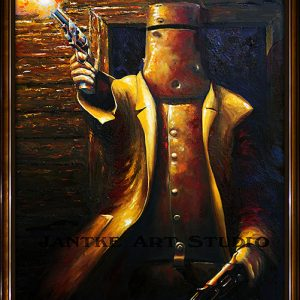 glenrowan-main-ned-kelly-outlaw-australian-bushranger-last-stand-oil-on-canvas-peter-jantke-art-studio