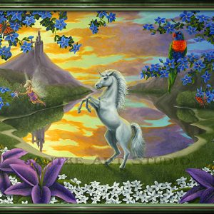 jassys-unicorn-main-childrens-fantasy-art-fairy-flowers-castle-oil-on-canvas-peter-jantke-art-studio