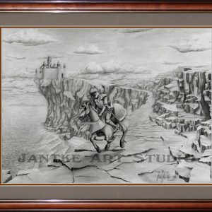 knight-on-horseback-main-medieval-battle-armour-horse-my-first-pencil-illustration-peter-jantke-art-studio