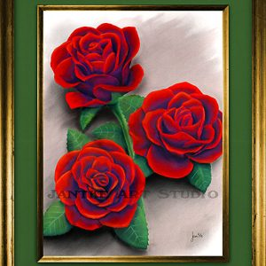 roses-main-red-flower-rose-triple-pastel-painting-peter-jantke-art-studio