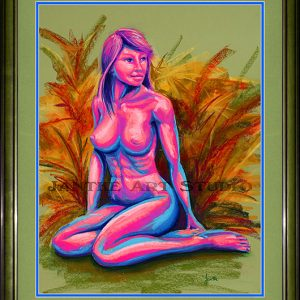 sitting-girl-main-life-drawing-nude-with-plants-pastel-painting-peter-jantke-art-studio