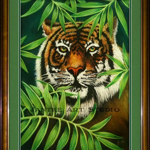 tiger-in-the-rough-main-hidden-stalking-tiger-eyes-pastel-painting-peter-jantke-art-studio