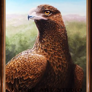 wedgetail-eagle-main-australian-native-bird-raptor-oil-on-canvas-peter-jantke-art-studio