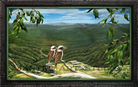 kookaburras-view-main-tamborine-queensland-oil-on-canvas-peter-jantke-art-studio