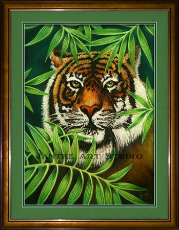 tiger-in-the-rough-main-hidden-stalking-tiger-eyes-pastel-painting-peter-jantke-art-studio