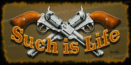 PRC031SL-main-jas-crossed-guns-such-is-life-jantle-art-print
