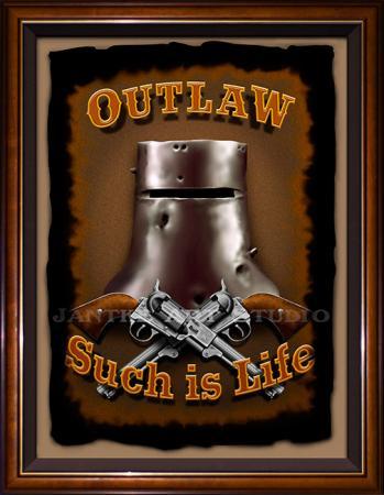 ned-kelly-outlaw-main-such-is-life-helmet-guns-australian-bushranger-digital-illustration-peter-jantke-art-studio