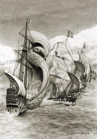 PRC002-main-jas-crossing-the-t-galleons-broadside-nelson-attack-jantke-art-print