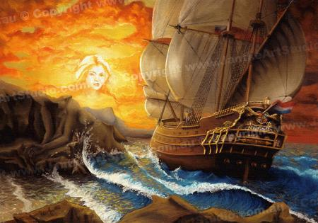 PRC009-main-jas-fantasy-art-wind-song-mermaid-galleon-sea-legend-jantke-art-print