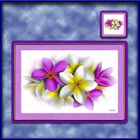 TM002PK-A3-jas-main-frangipani-bouquet-plumeria-flower-table-mat-pink-jantke-art-studio