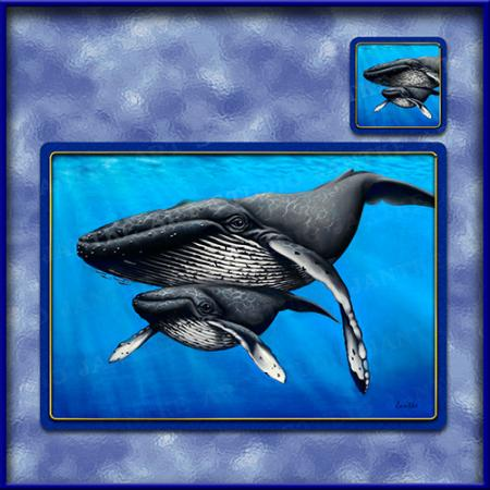 TM005-A3-jas-main-humpback-and-calf-whale-table-mat-jantke-art-studio