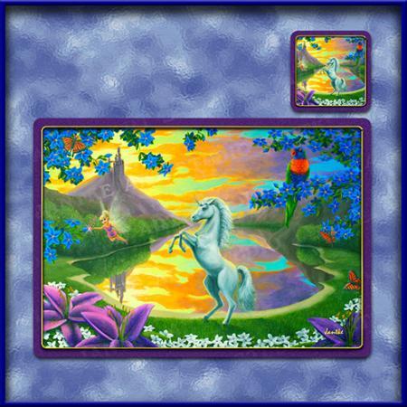 TM010-A3-jas-main-jassys-unicorn-kids-fantasy-art-table-mat-jantke-art-studio