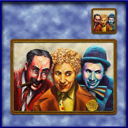 TM012-A3-jas-main-top-marx-brothers-vaudville-hollywood-comedy-famous-table-mat-jantke-art-studio