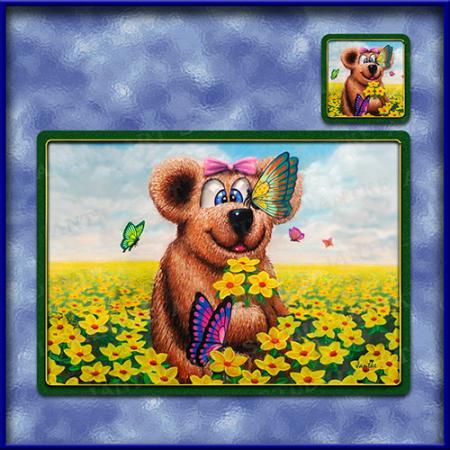 TM014-A3-jas-main-teddy-and-butterflies-kids-art-table-mat-jantke-art-studio