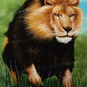 PRC014-main-jas-animal-lion-charge-king-of-the-jungle-jantke-art-print