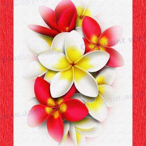 PRC024RD-main-jas-flower-frangipani-plumeria-bouquet-red-jantke-art-print