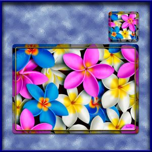 TM003MC-A3-jas-main-frangipani-madness-plumeria-flower-table-mat-colour-jantke-art-studio
