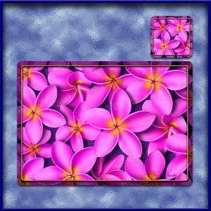 TM003PK-A3-jas-main-frangipani-madness-plumeria-flower-table-mat-pink-jantke-art-studio