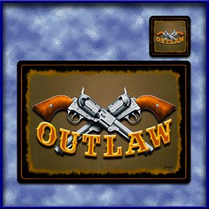TM007-A3-jas-main-ned-kelly-australian-bush-ranger-guns-outlaw-table-mat-jantke-art-studio