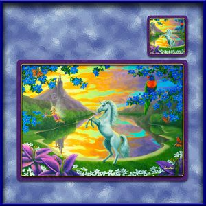 TM010-A3-jas-main-jassys-unicorn-kids-fantasy-art-table-mat-jantke-art-studio