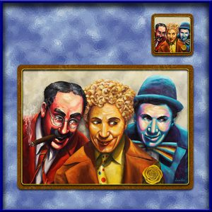 TM012-A3-jas-main-top-marx-brothers-vaudville-hollywood-comedy-famous-table-mat-jantke-art-studio